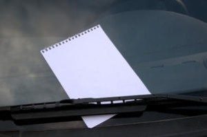 note on windshield