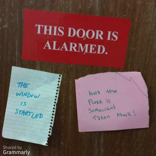 This Door Is Alarmed Meme
