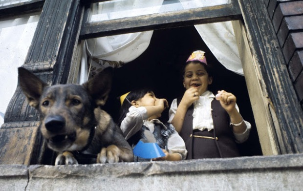 Chldren with Dog_Brooklyn 1970